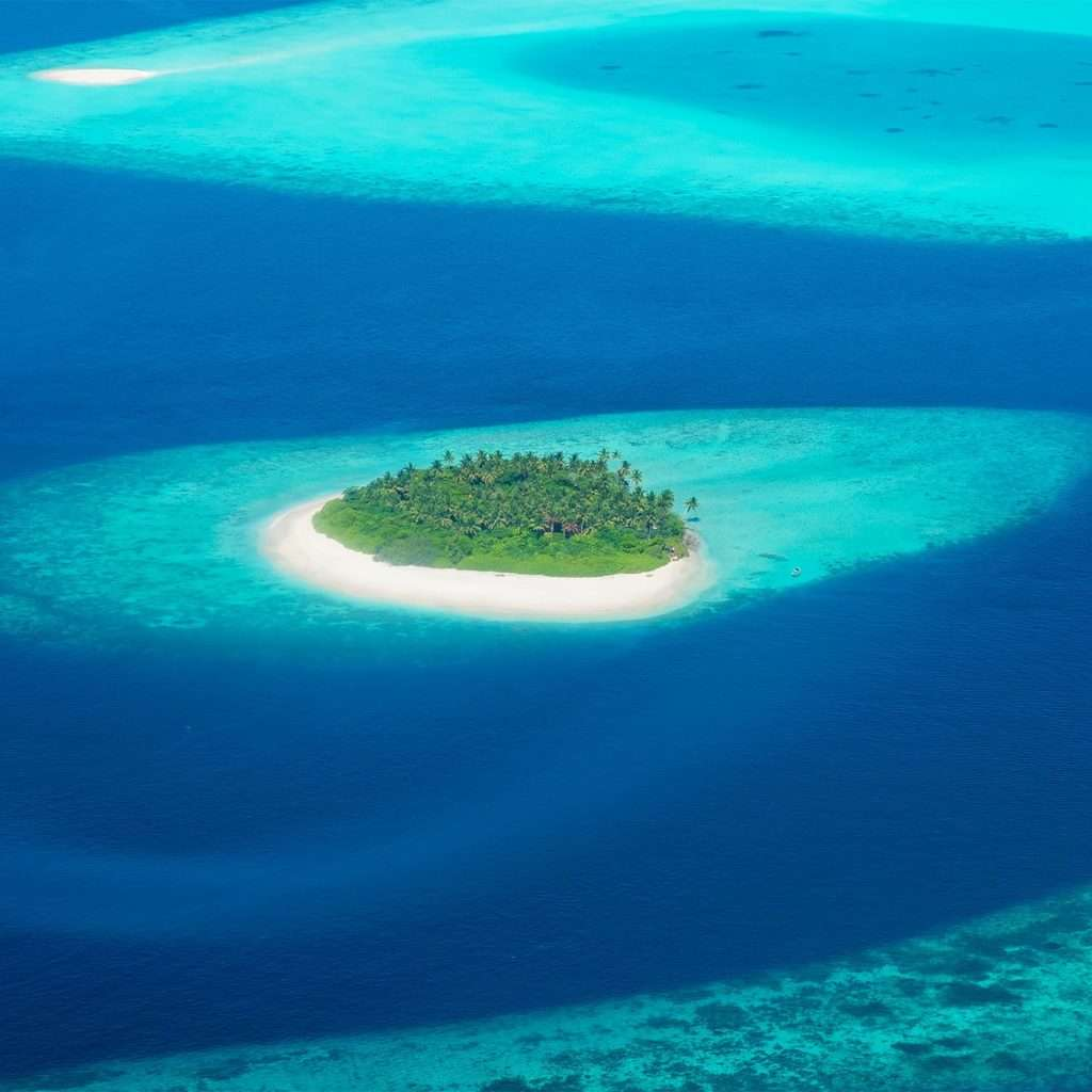 Luxury travel experts | Maldive island arial view