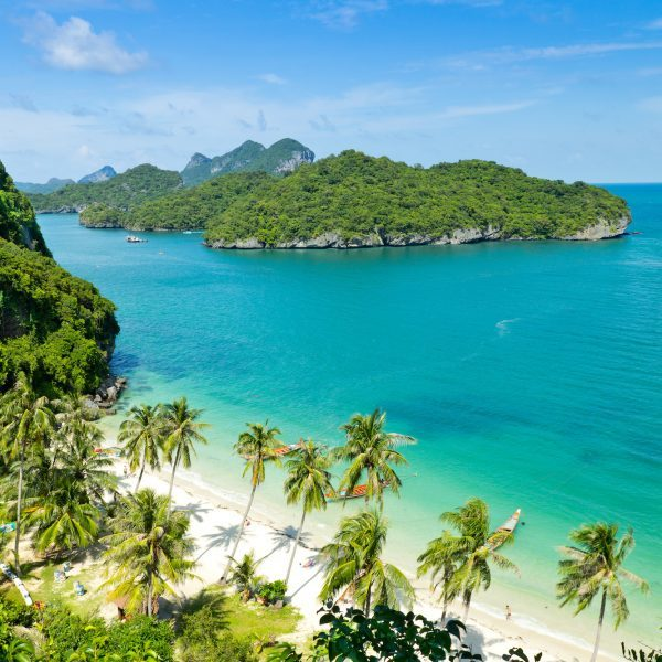 View point of Wua Talab Island in Koh Samui in Thailand
