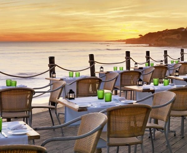 Dining with views of the sea at Pine Cliffs, A Luxury Collection Resort in Portugal