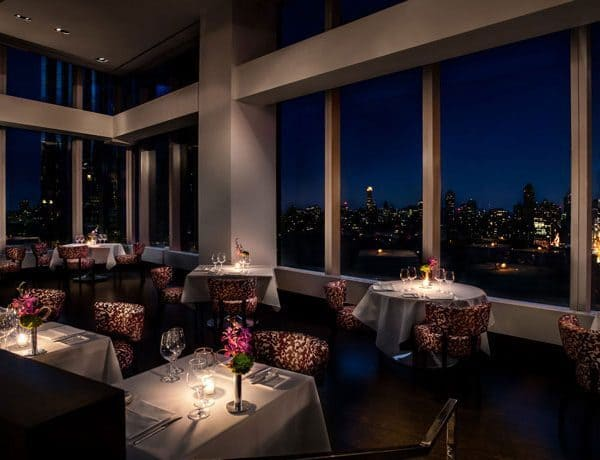 Manderin Oriental New York Inside Restaurant Night Scene