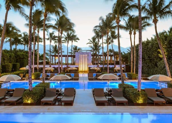 The Setai Miami Offer Pool view