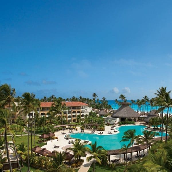 Exterior view of the main swimming pool at Now Larimar Punta Cana