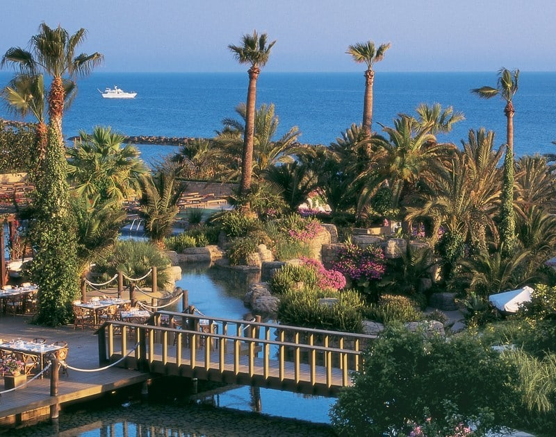 Tropical view of the Annabelle Hotel Paphos in Cyprus