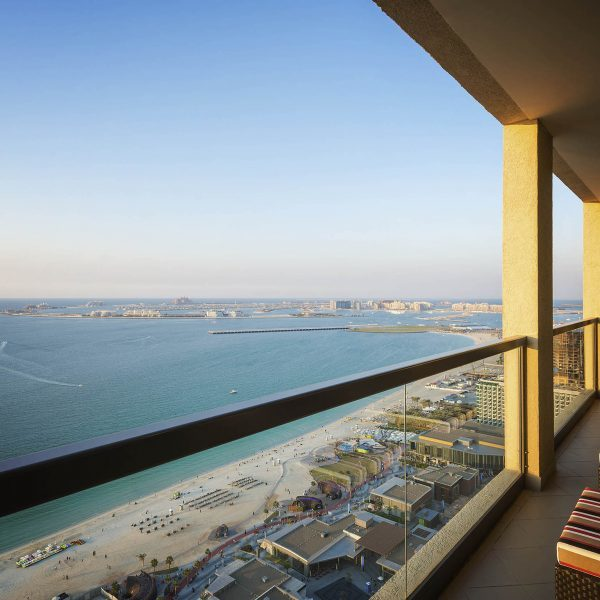 View from one of the balconies at Sofitel Jumeirah Beach, overlooking the Arabian Gulf