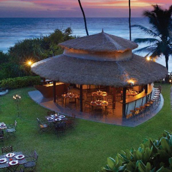 View of the Shack Restaurant at Vivanta by Taj at dusk