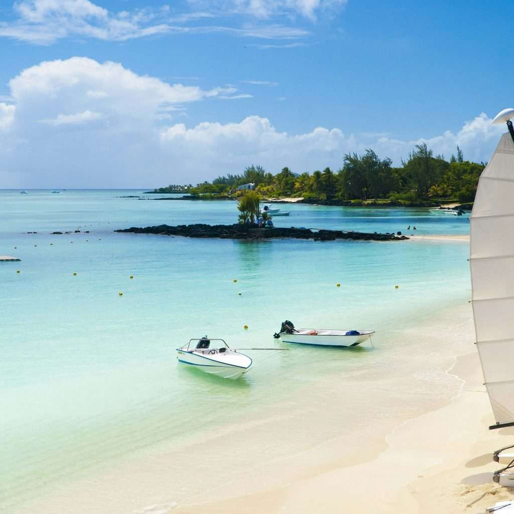 luxury holiday destinations beach and ocean view with canoes