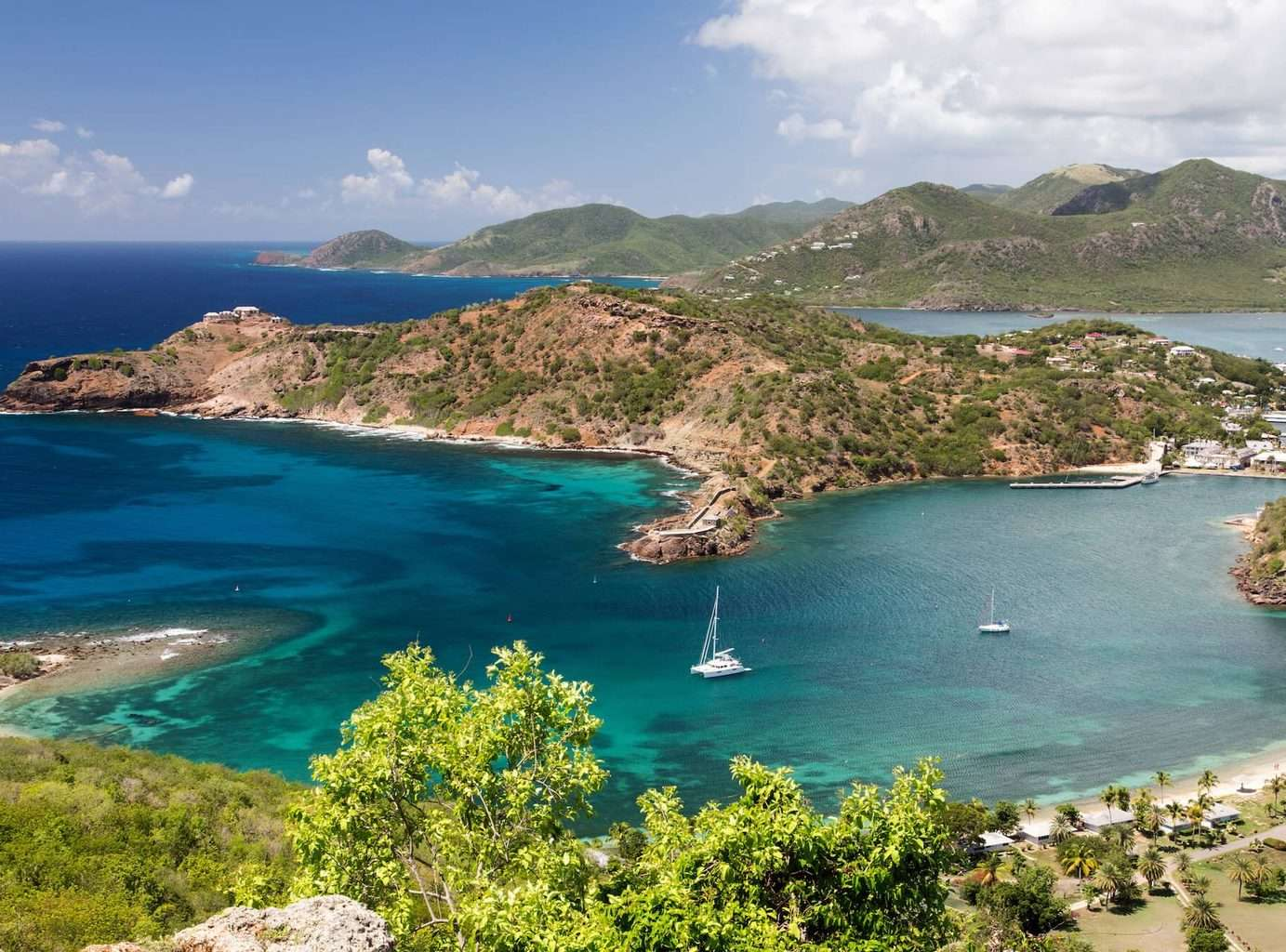 Luxury Holiday to Antigua - View of the land and sea at The Inn at English Harbour in Antigua