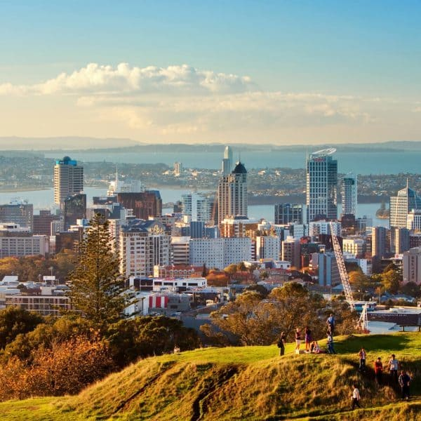 luxury Auckland holidays - skyline and ocean view