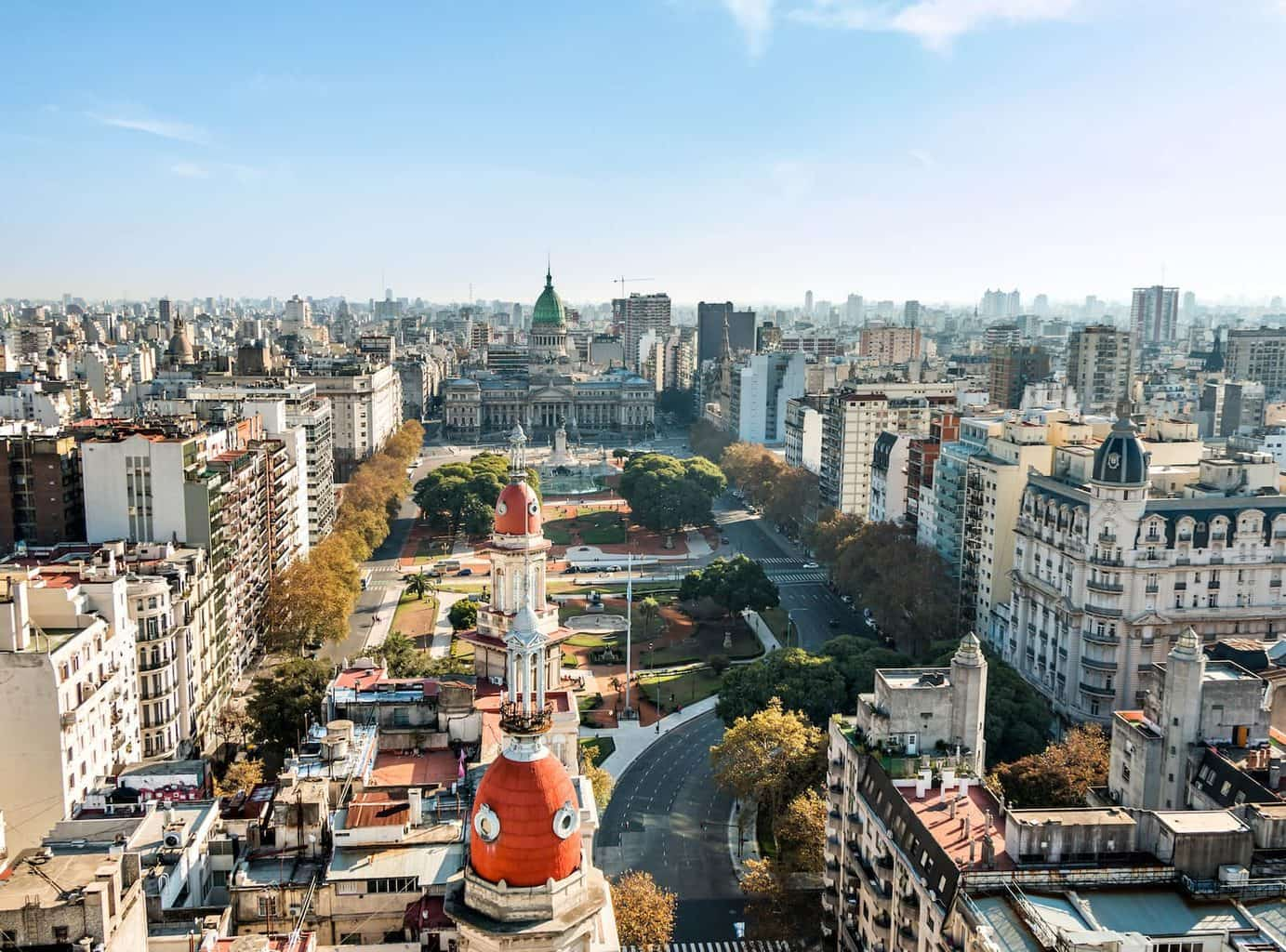 Buenos Aires Argentina Luxury Holidy City arial shot