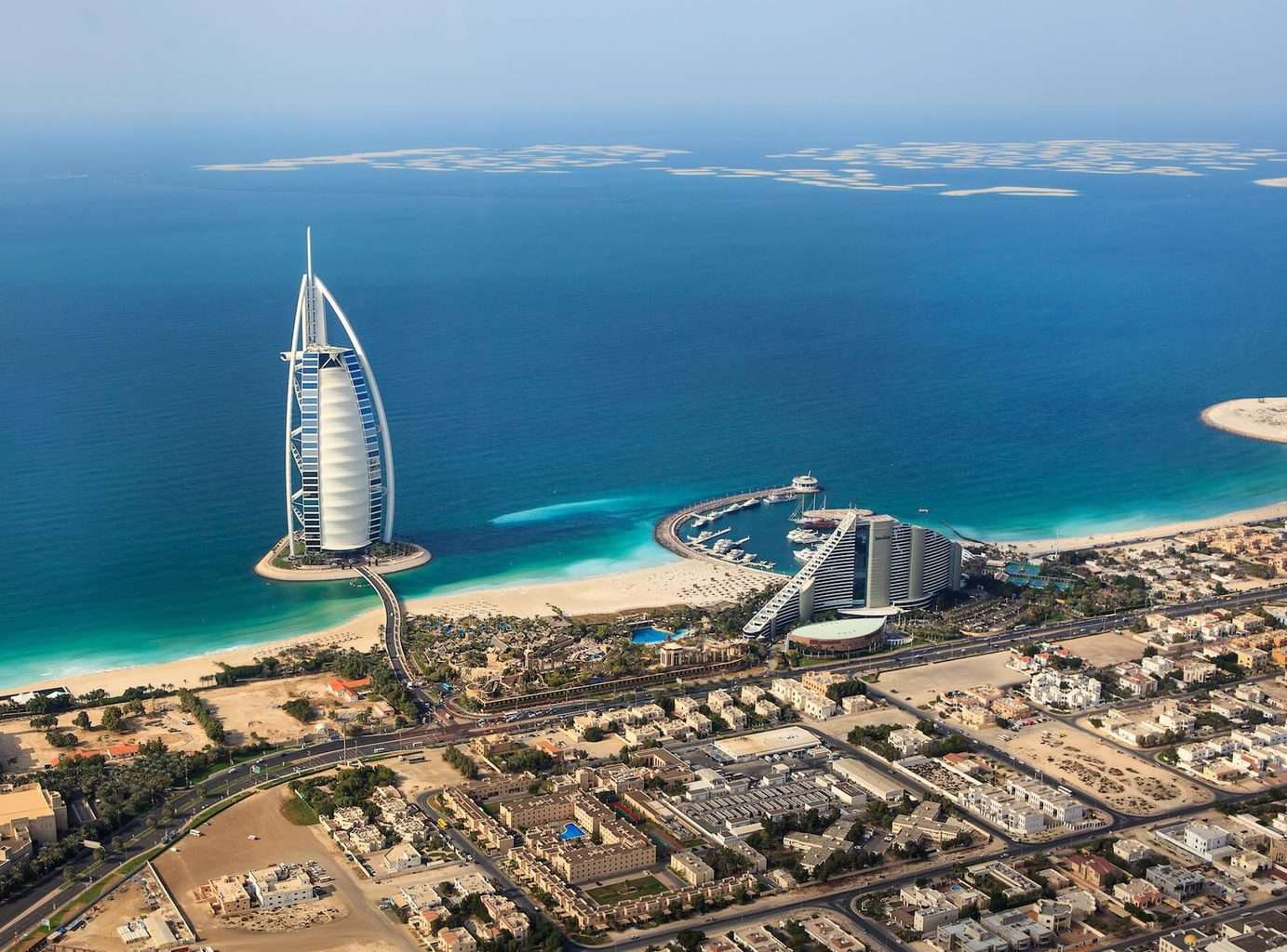 luxury Dubai Holidays city and waterfront arial view