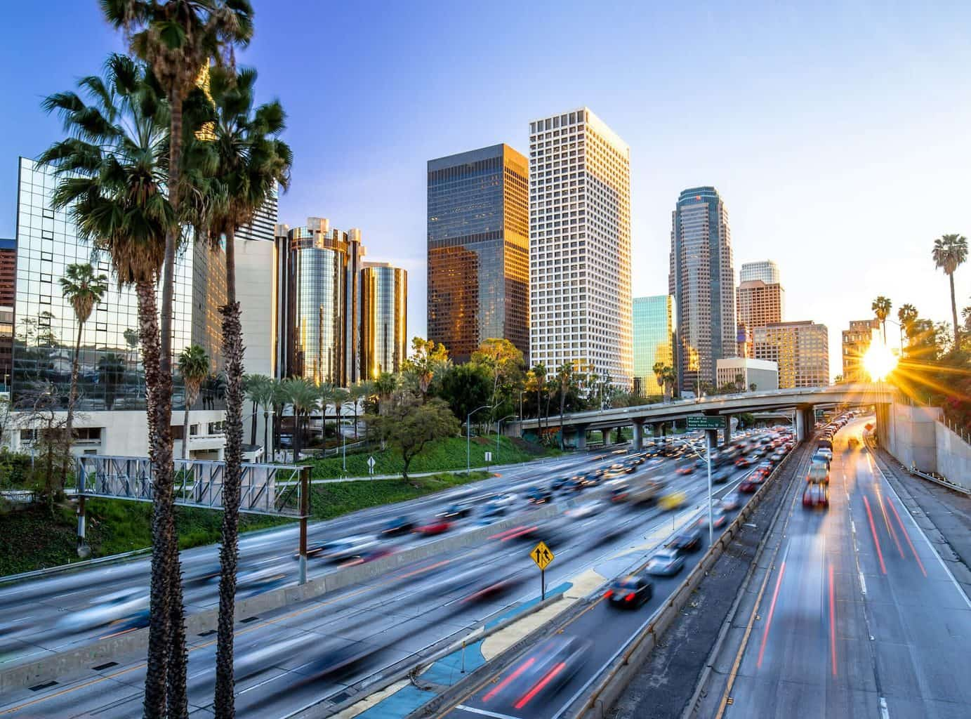 Luxury Holiday to Los Angeles - Road, bridge and sky scapers view