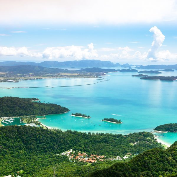 Tropical Langkawi island view in Malaysia