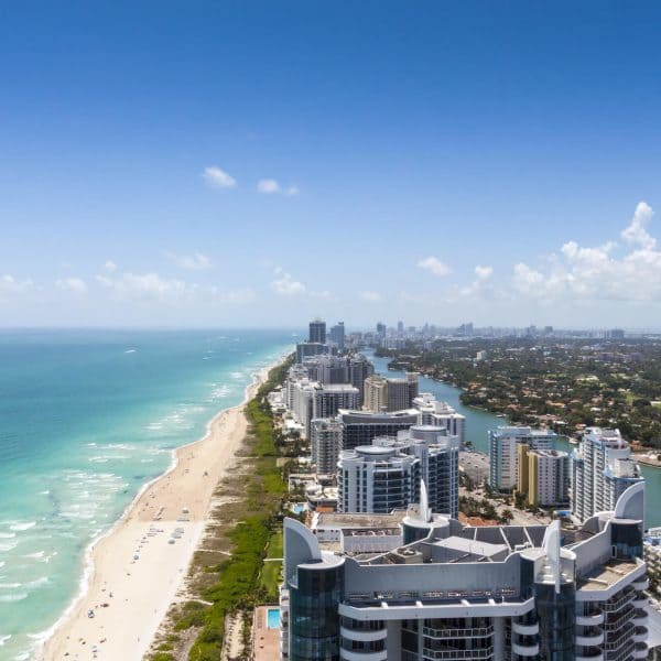 Luxury Holiday to Miami - View of the beach and St Regis Bal Harbour