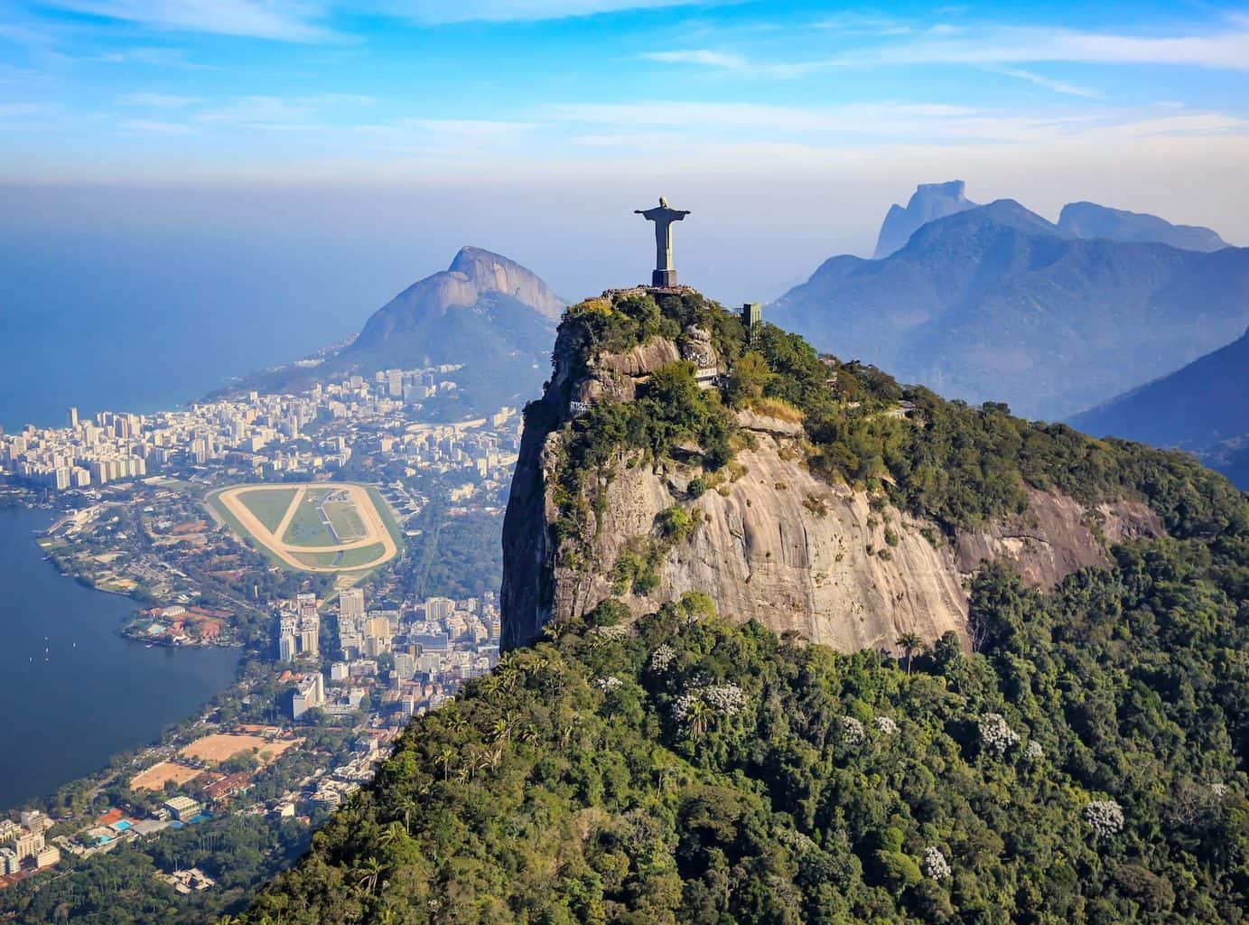 Luxury Holidays to Rio De Janeiro - landscape shot with Christ the Redeemer Statue in view