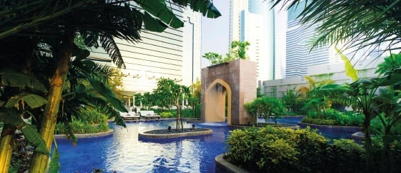 Exterior of the Conrad Dubai in United Arab Emirates.