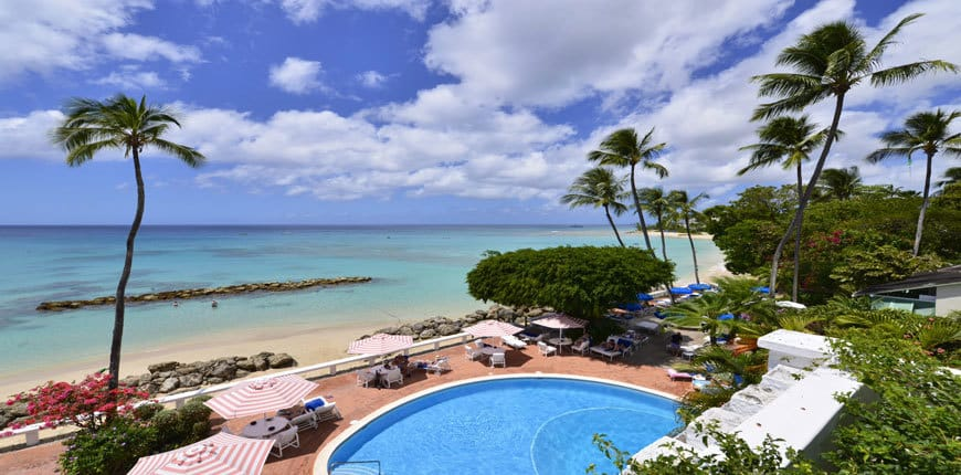 View of the swimming pool at Cobblers Cove in Barbados