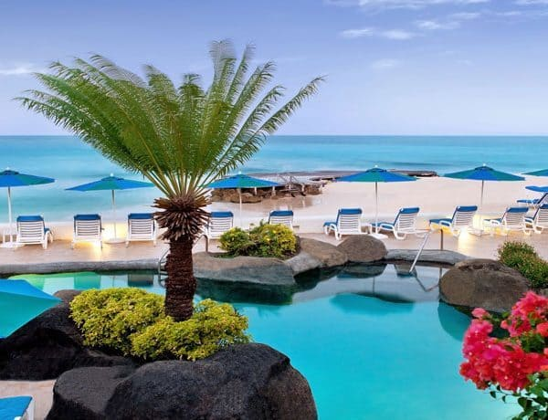 View of the swimming pool at Crystal Cove Barbados