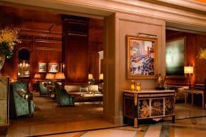 New York to Niagara Falls Ritz Carlton Hotel Wood Panel