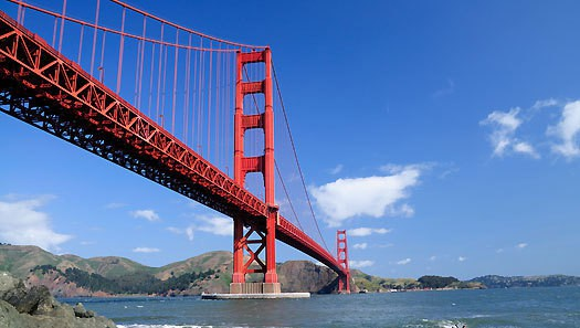 west coast America road trip Golden Gate bridge