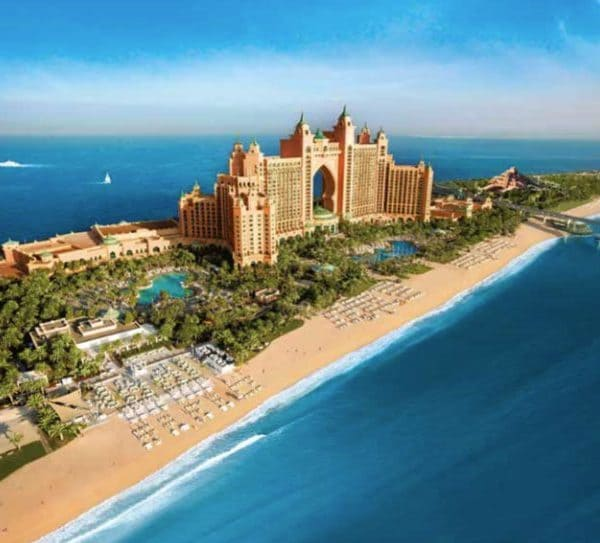 Atlantis The Palm Dubai beach and ocean view