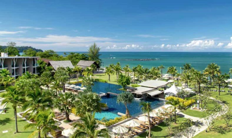 Bangkok Khao Lak pool and ocean view