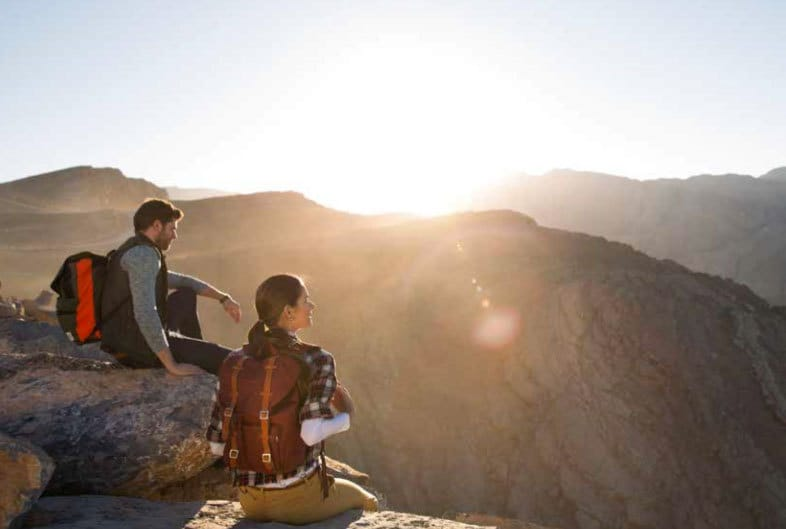 Cove Rotana Middle East mountain top sunshine view