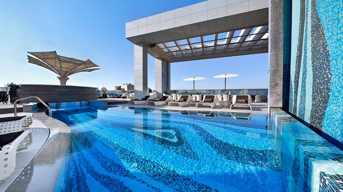 Doubletree Hilton Doha pool view