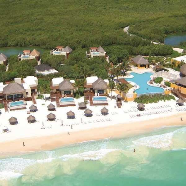 Aerial view of Fairmont Mayakoba, Cancun