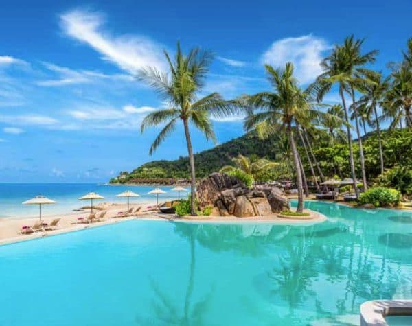 Koh Samui Phangan pool and ocean view