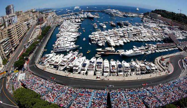 Monaco Grand Prix Track and Ocean view