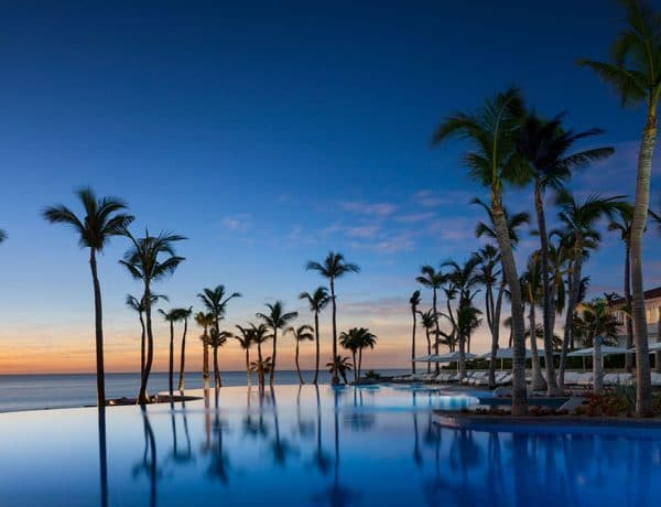 View of the swimming pool at One&Only Palmilla Cancun Mexico