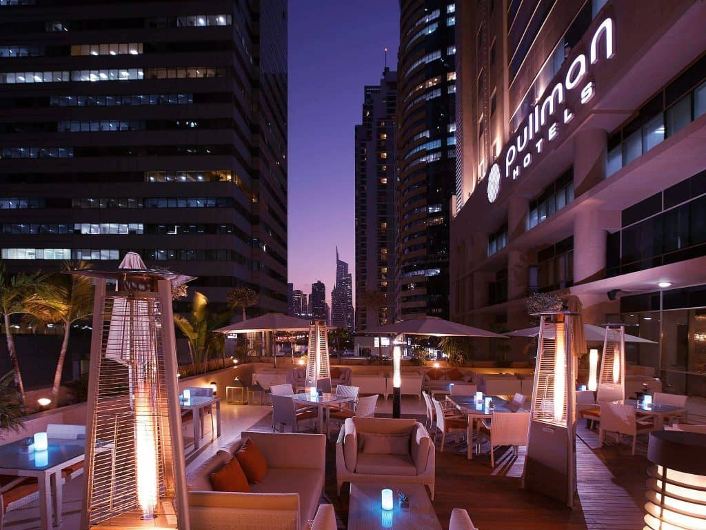 Pullman Hotel All inclsive holiday in Dubai night city scene