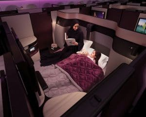 Qatar Airways Business Class Travel Double bed