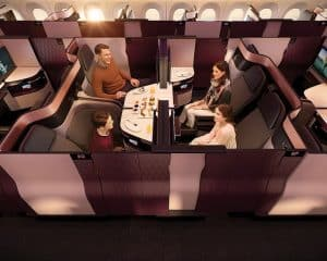 Qatar Airways Business Class Travel Airline Seating