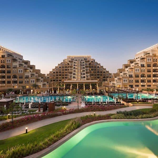 Rixos Bab Dubai Hotel and pool view