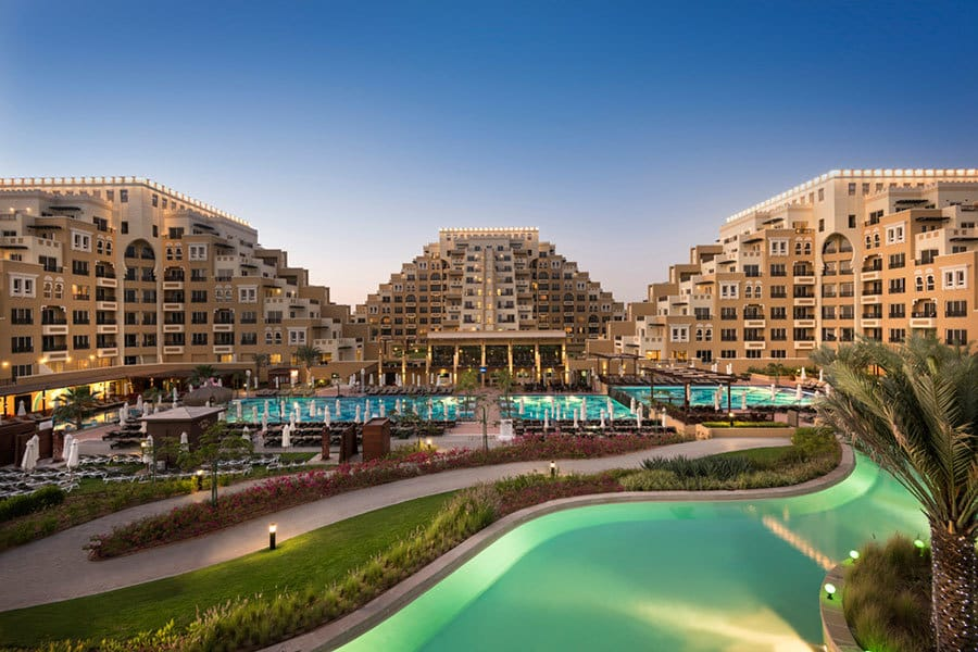 Rixos Bab Dubai Hotel and pool view