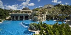 Sandy Lane Luxury hotels in Barbados Poolside view