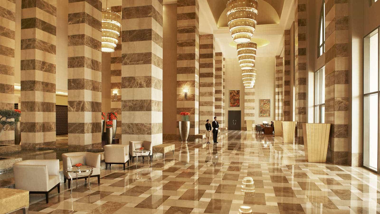St Regis Doha inside hotel lobby view