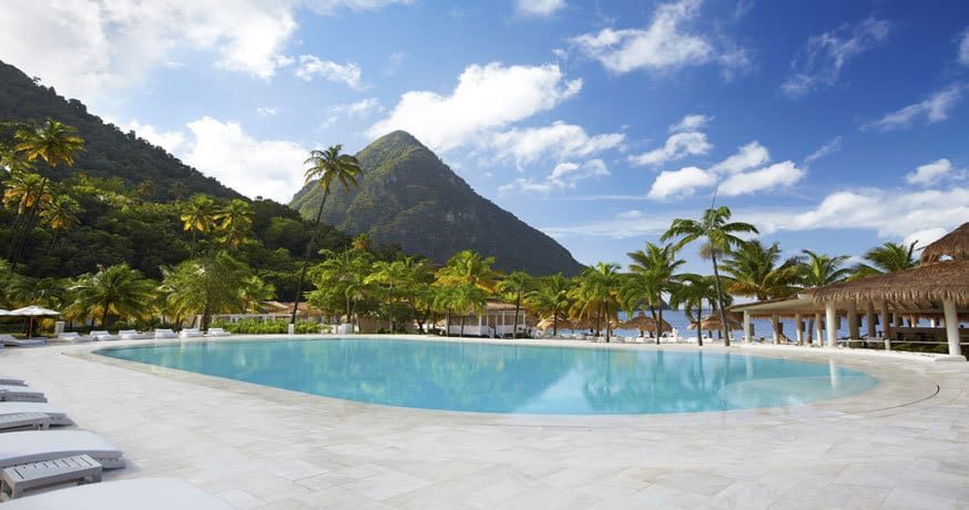 Sugar Beach St Lucia Offer Pool and Mountain view