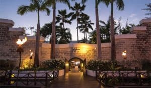Luxury Hotels in Barbados The House building and Palm Trees view