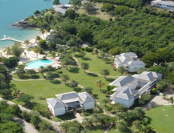 Ariel view of The Inn at English Harbour in Antigua