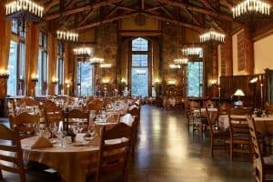 The Majestic Yosemite Hotel Restaurant view San Francisco to Los Angeles
