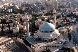 Things to do in Amman King Abdullah Mosque Building Arial View