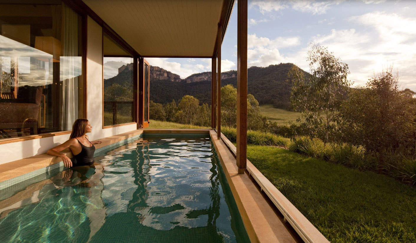 Wolgan Valley Sydney Offer Pool view
