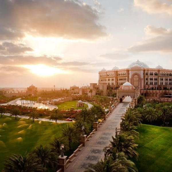View of Emirates Palace in Abu Dhabi