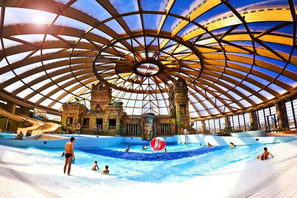 Aqua World Budapest best hotels with waterparks in the world indoor pool