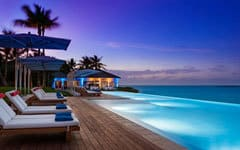 OO Ocean Club Bahamas Offer pool and ocean night time view