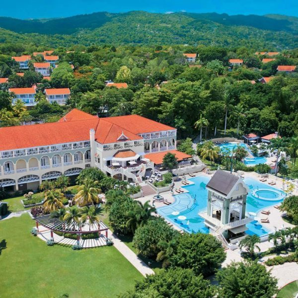 Ochi Beach Offer Jamaica arial view of pool and outside of hotel