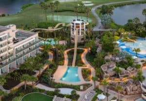 Orlando Marriott best hotels with waterparks in the world arial view