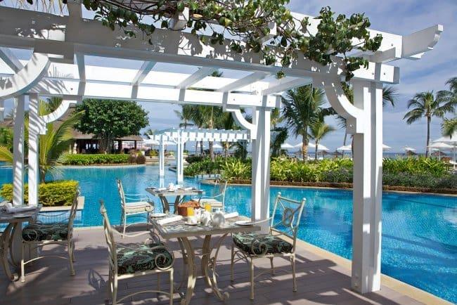 View of the Mon Plaisir Restaurant at Sugar Beach Resort in Mauritius